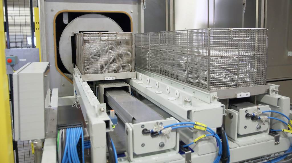Så här fungerar en automatiserad industritvätt.