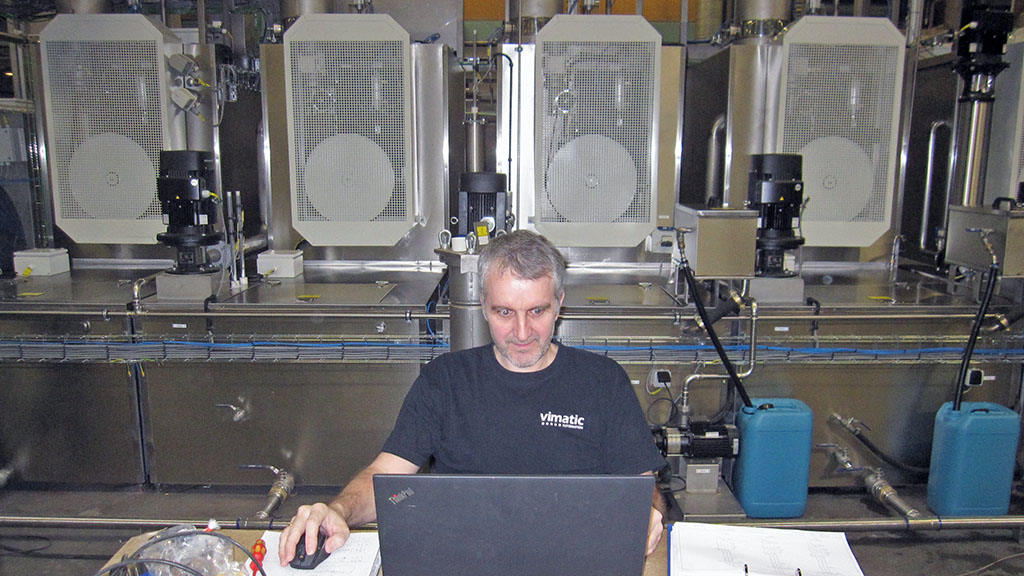 Allt styrs av Siemens S7 styrsystem som är programmerat av Viverks dotterbolag, Vimatic, under ledning av Thorben Møller-Hansen.