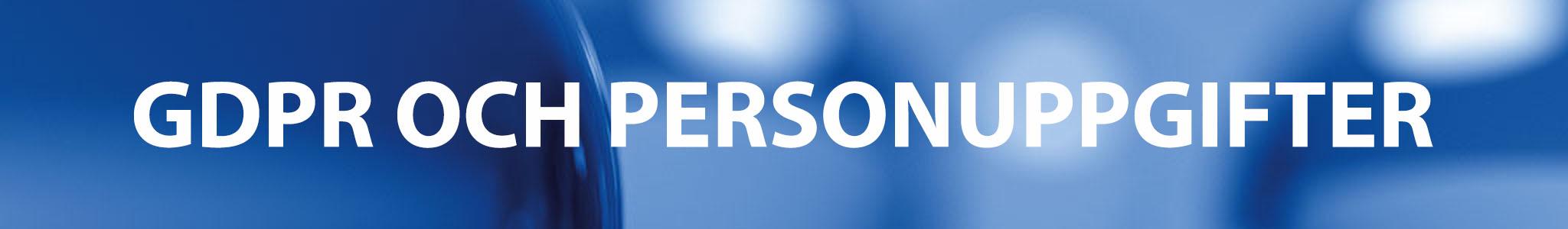 GDPR och personuppgifter